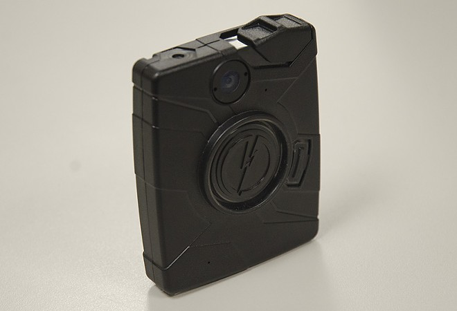 A test model of the Taser Axon Body camera now being used by the Spokane Police Department. - JACOB JONES