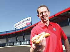 "Justin Stottlemyre: ""The best way to eat a hot dog is at a Spokane Indians game."" - YOUNG KWAK"