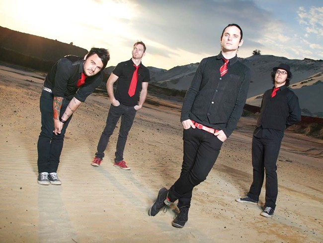 Kahn Morbee (second from right) and the Parlotones