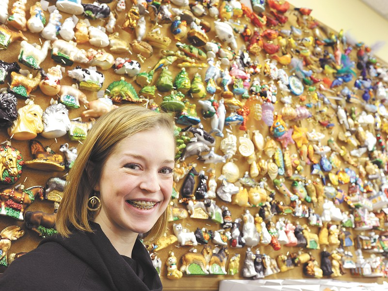 Katherine Merck of Old World Christmas with about 1,000 creations from her family's company. - CHRISTIAN WILSON