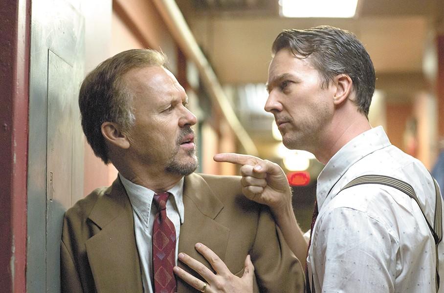 Keaton and Ed Norton face off in Birdman.