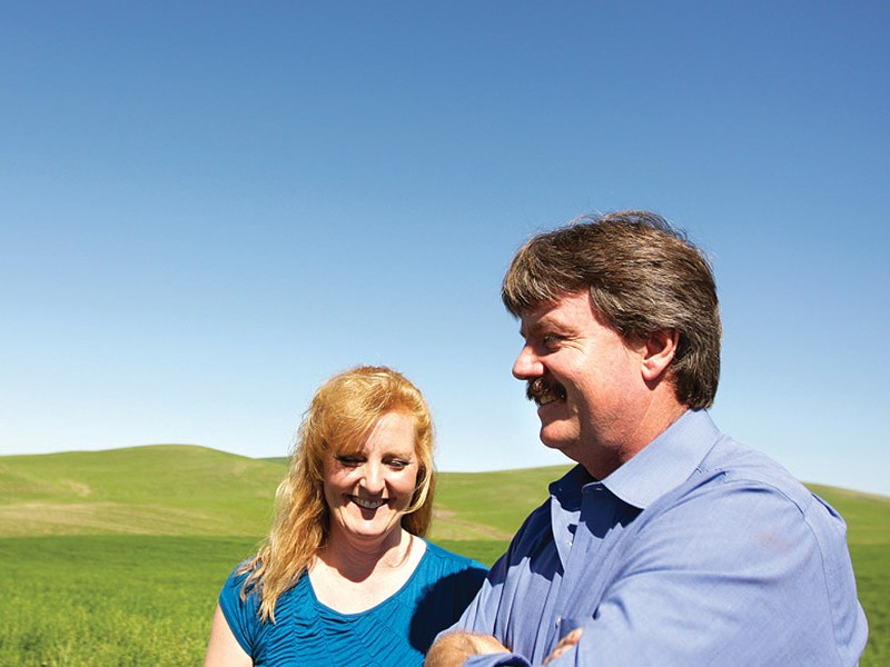 Ken and Karen Hanson will have the Palouse Wind Project on their property. - YOUNG KWAK