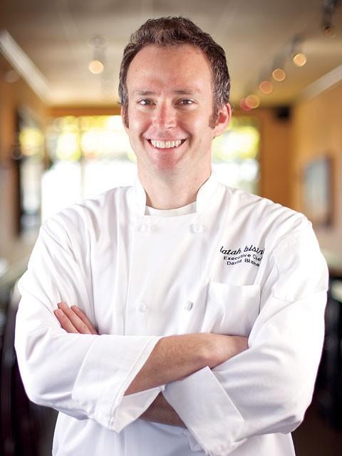 Latah Bistro chef David Blaine and his Olive Pork dish - BEN TOBIN