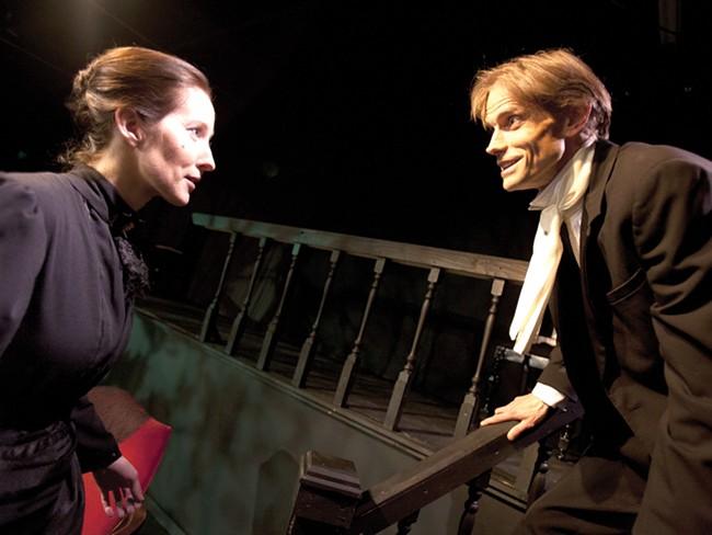 Laticia Widman as The Woman and Doug Dawson as The Man. - MIKE MCCALL