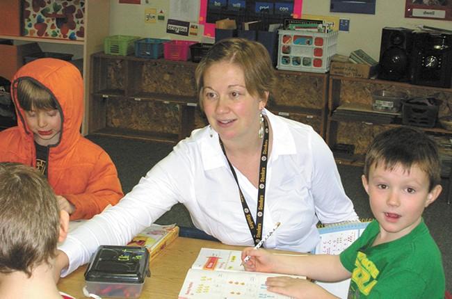 Lauren Bartoe at Valley View Elementary School. - DIANNA COSSAIRT