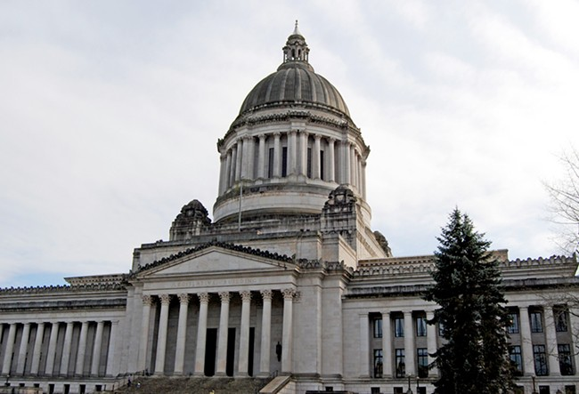 Lawmakers in Olympia have been busy with full days of hearings. - HARVEY BARRISON