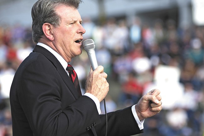 """Led by Gov. C.L. """"Butch"""" Otter, Idaho has spent about $70,000 so far defending its ban on same-sex marriage."""