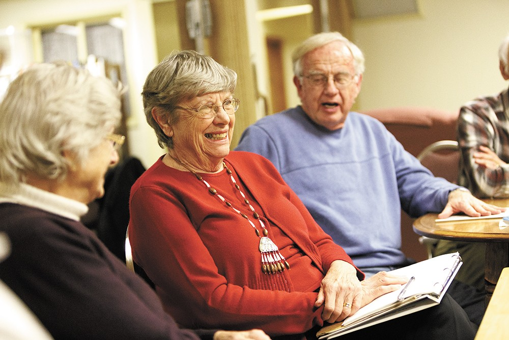 Lee Smith, Kay Yates and Roy Colver at last week's meeting. - YOUNG KWAK