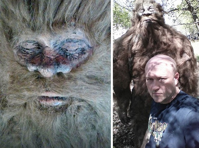 Left: The photo Rick Dyer released ahead of the national tour. Right: Dyer and his Bigfoot.