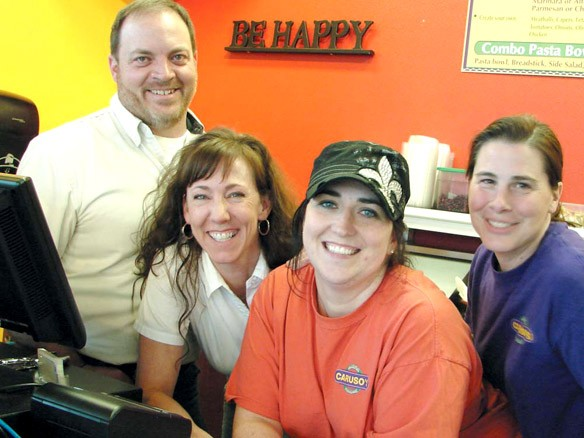 Left to right: Vince and Chelle Caruso, Desi Freeman and Amy Hayes.