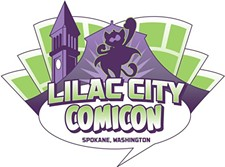 CREATED BY MATT BRAZEE - Lilac City Comicon logo