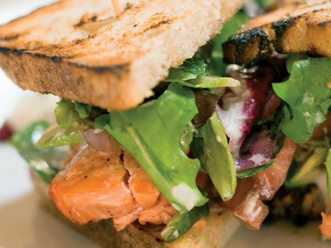 Luna's smoked wild salmon sandwich - STEPHEN SCLANGE