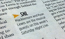 Macklemore and Ryan Lewis on SNL, too