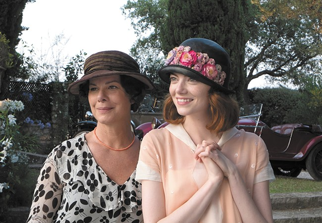 Marcia Gay Harden (left) and Emma Stone in Woody Allen's latest.