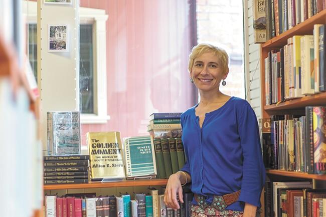 Marina Drake, owner of Monkeyboy Books. - MATT WEIGAND