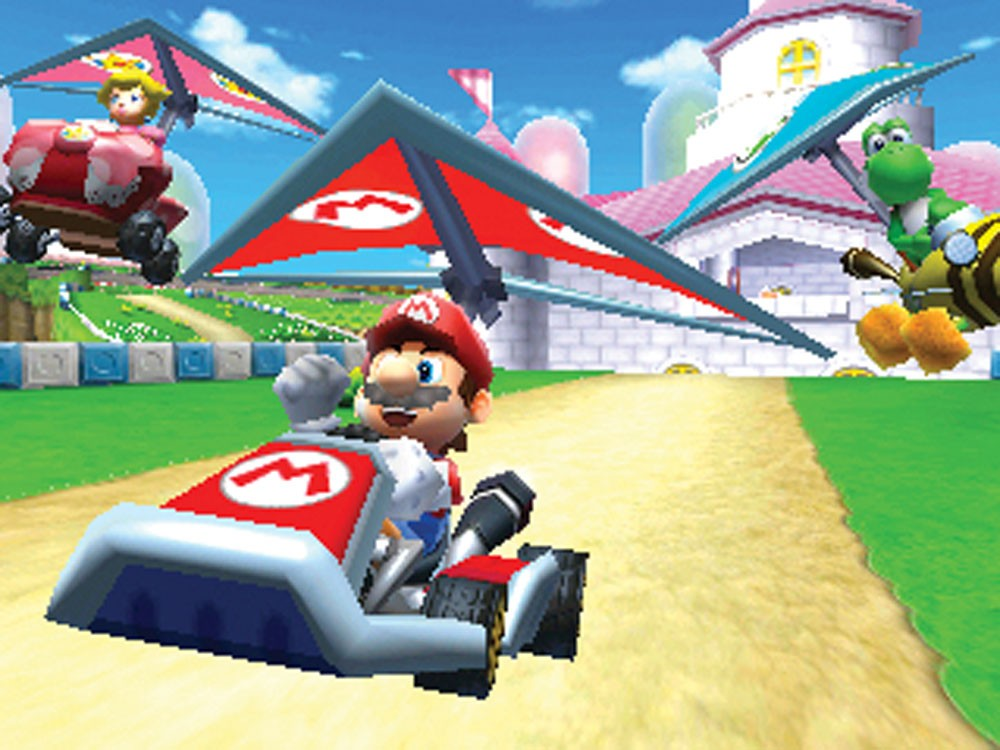 Mario and friens take flight, but have nowhere to soar