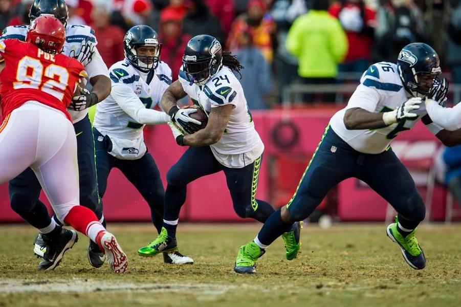 Marshawn Lynch ran for 124 yards on the day. - SEAHAWKS.COM