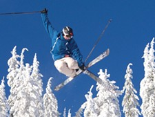 Matt Gillis doing what he loves in the air above Schweitzer.