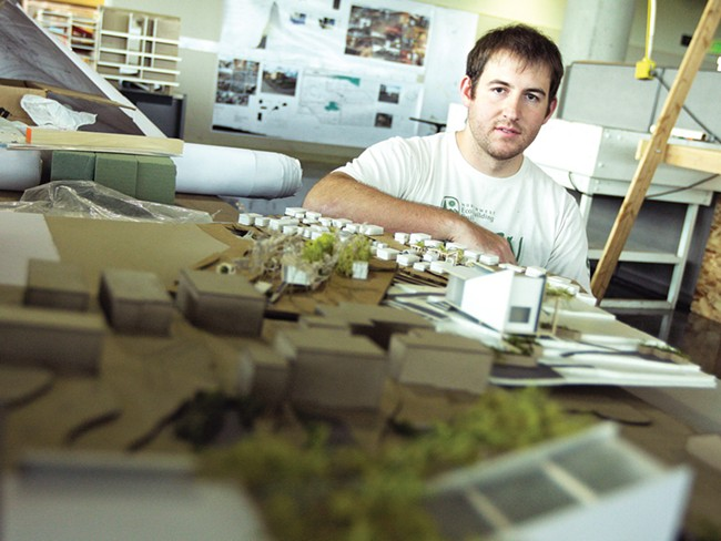 Matt Reeves, a graduate student in the institute's architecture program. - YOUNG KWAK