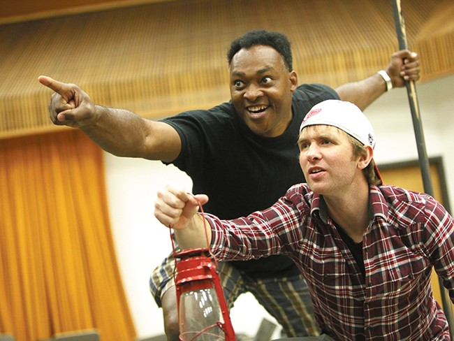 Max Demers, who plays Huckleberry Finn (right), and Terence Kelley, as Jim. - YOUNG KWAK