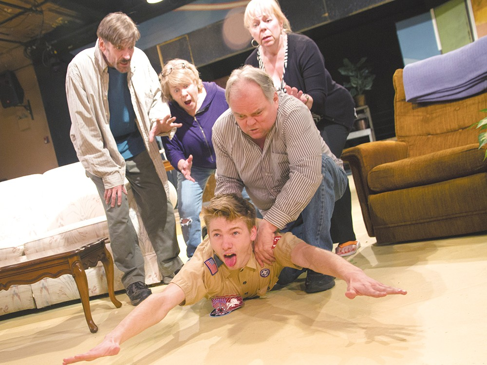 """Maxim Chumov, as Levi, is choked by Ron Ford in \""""Seeds of Change.\"""" - JENNIFER DEBARROS"""