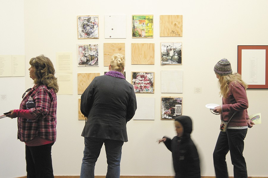 "Memory Game at the ""Landmarks"" exhibit."
