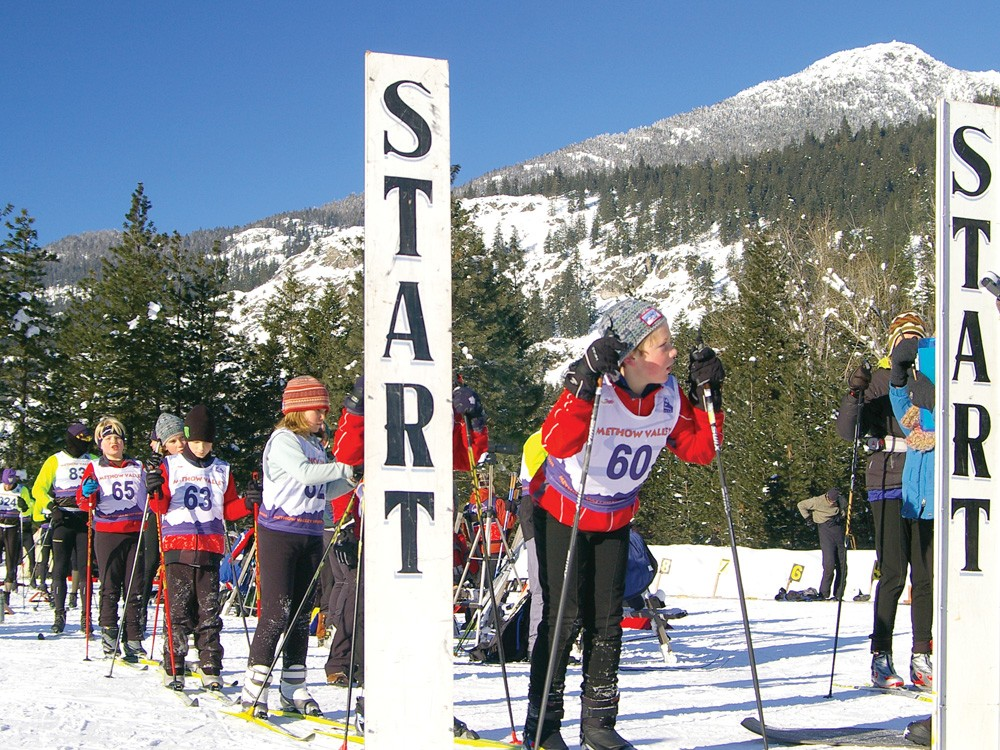 Methow Valley Biathlon members, of all ages, gathered under the North Cascades outside Winthrop to ski and shoot on New Year\'s Day. - METHOW VALLEY PHOTOGRAPHY