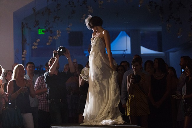 Michelle Robertson stops at the end of the runway. - YOUNG KWAK