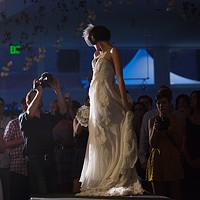PHOTOS: Olive + Boone Custom Millinery Show Michelle Robertson stops at the end of the runway. Young Kwak