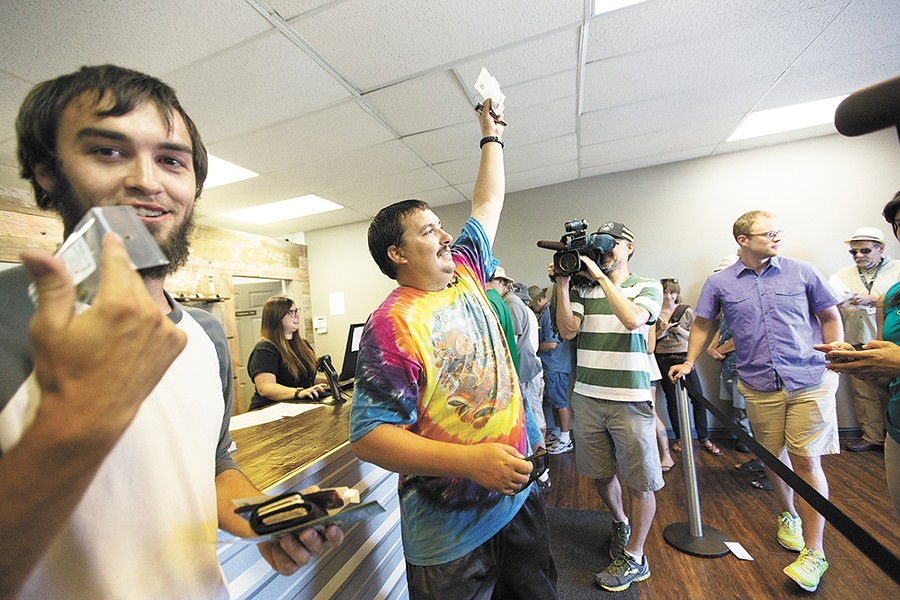 Mike Boyer, Spokane's first legal pot buyer. - YOUNG KWAK