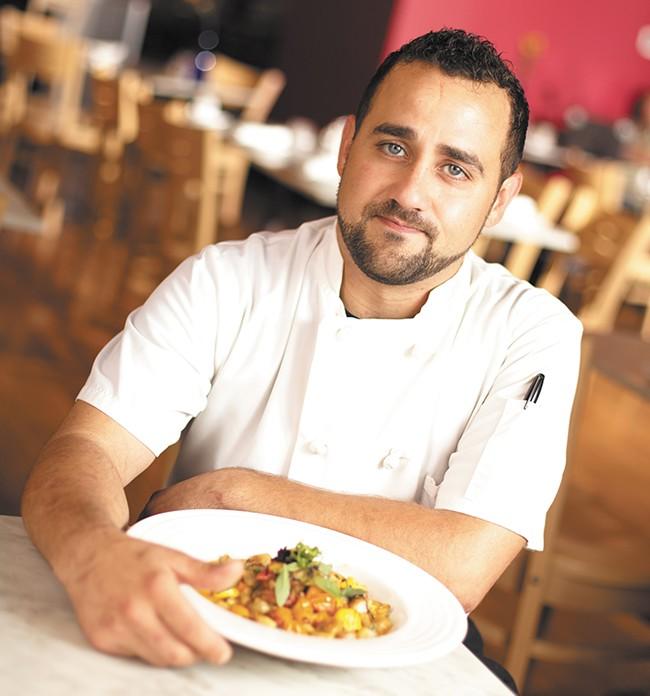 Mizuna chef Tyler Reynolds advocates careful sourcing of ingredients. - YOUNG KWAK