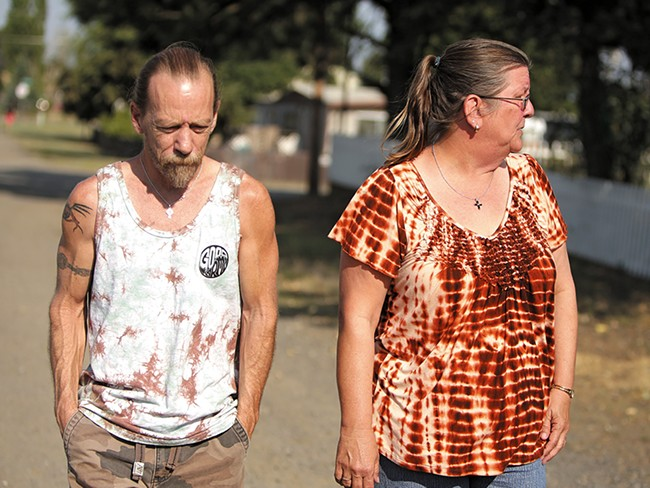 Mobile home owners Richard and Susan Jones are tired of the uncertainty surrounding the Lawson Mobile Home Park. - YOUNG KWAK