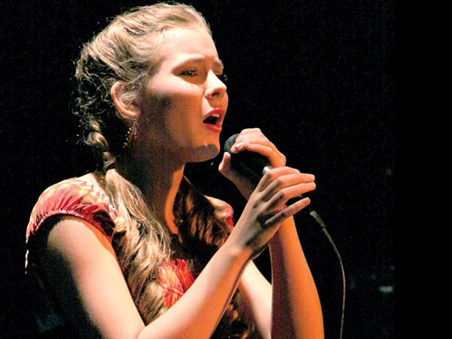 Morgan Keene, 13, sings at Spokane's Got Talent - JOE PFLUEGER