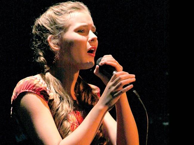 Morgan Keene, 13, sings at Spokane's Got Talent - JOE PFLUEGER