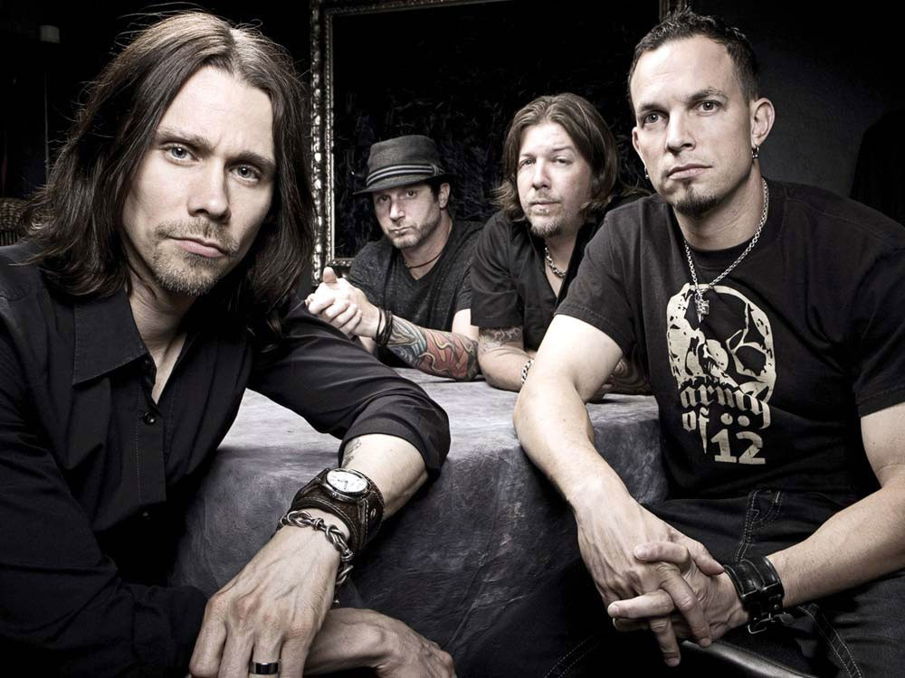 Myles Kennedy (far left) and Alter Bridge