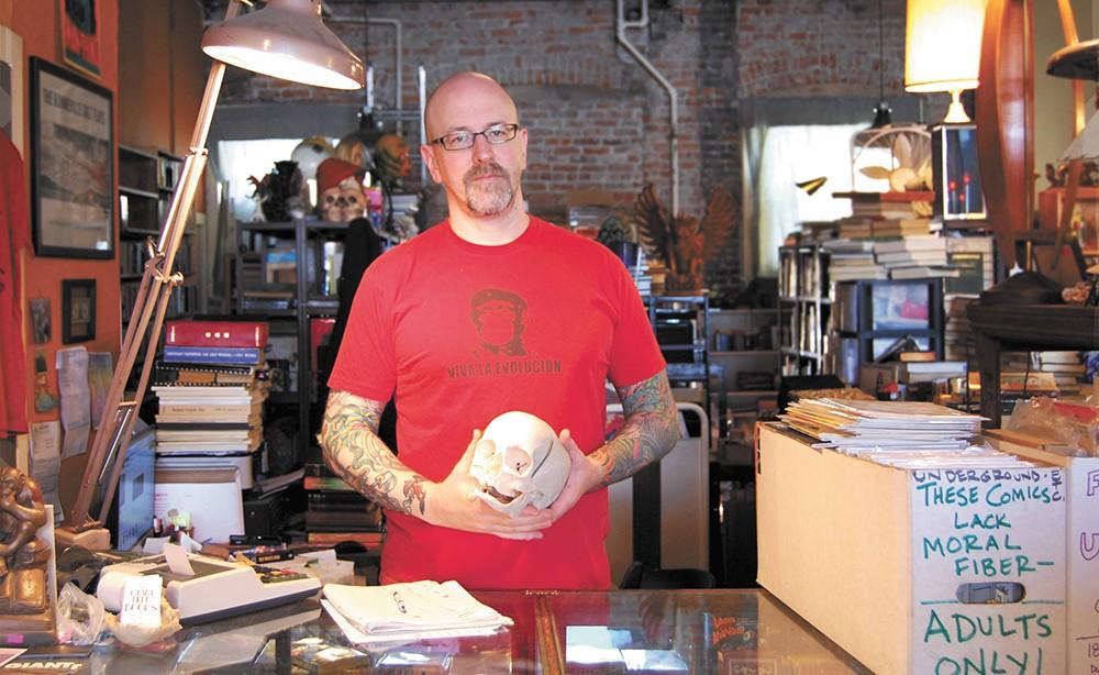 Nathan Huston, owner of Giant Nerd Books - BRYCE COLVIN PHOTO