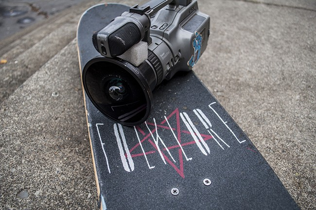 Marko's camera and skateboard. - SARAH WURTZ
