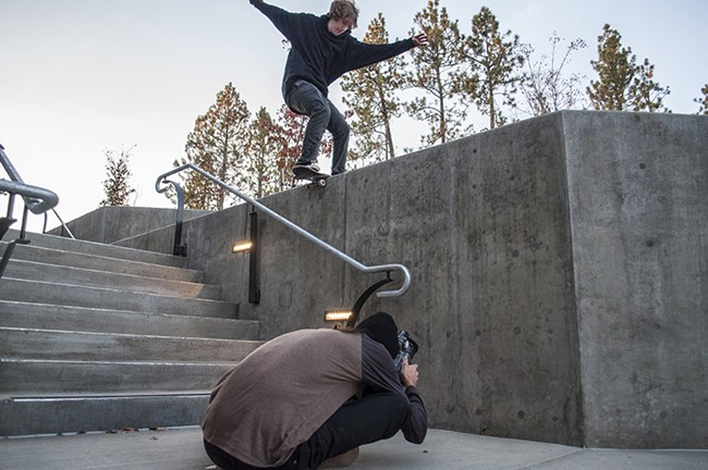 Marko films Visintainer as he lands one of the trick shots. - SARAH WURTZ