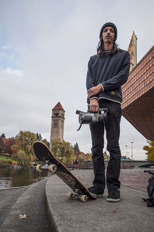 Justin Marko poses for a portrait at Riverfront Park. - SARAH WURTZ