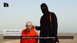 The man being held is believed to be journalist Steven Sotloff.