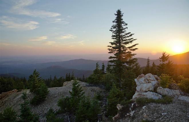 View of Spokane area from Quartz Mountain in Mt. Spokane State Park. - JACOB JONES