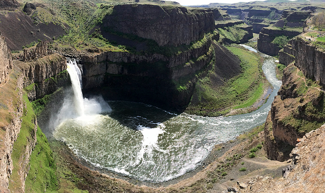 Palouse Falls State Park has shut down its potable water supply for the rest of the season. Still pretty though. - JACOB JONES