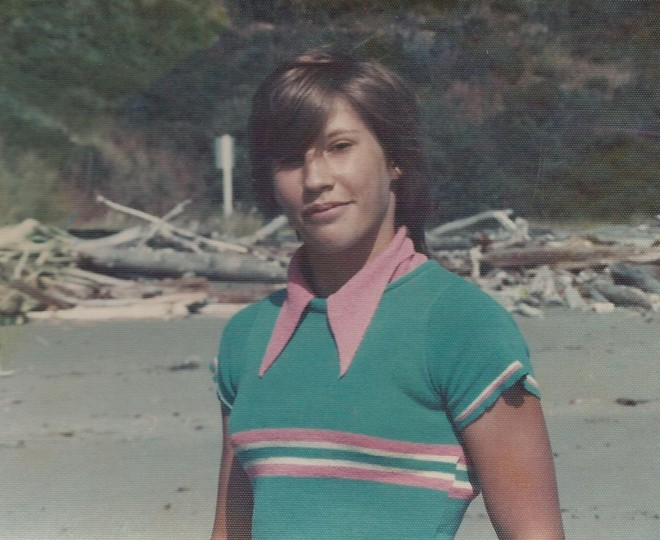 Stephanie Renee Meier at the Oregon coast at age 14 or 15, around the time she dated Gavin Cooley. She was hit and killed by a city truck while she slept on the edge of a driveway last week. - PHOTO COURTESY OF STEPHANIE RENEE MEIER'S FAMILY