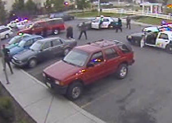 Surveillance video captures Salvation Army officer-involved shooting