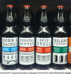 Some stores have the beer in stock as both Crystal Bitter and Spin Cycle. (These were placed beside each other for photo purposes.) - LISA WAANANEN