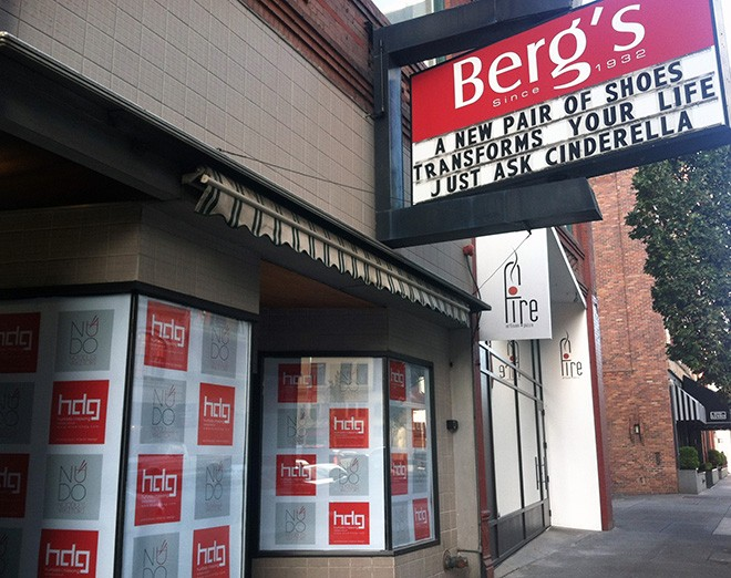 There are new plans for the spot that was Berg's Shoes for many decades. - LISA WAANANEN