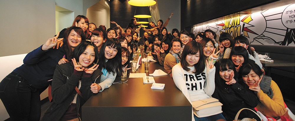 Nudo hosted students from the Mukogawa Fort Wright Institute for the restaurant's soft opening. - TRAVIS KNIGHT