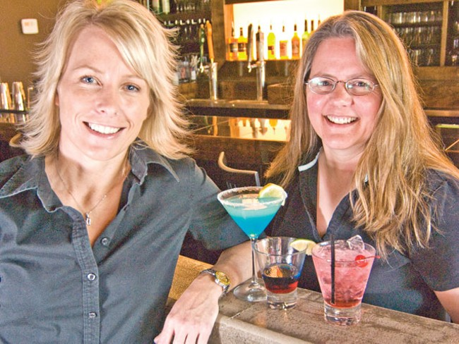 Nyne owners Marcine McLaughlin (left) and Kitty Cane - TAMMY MARSHALL