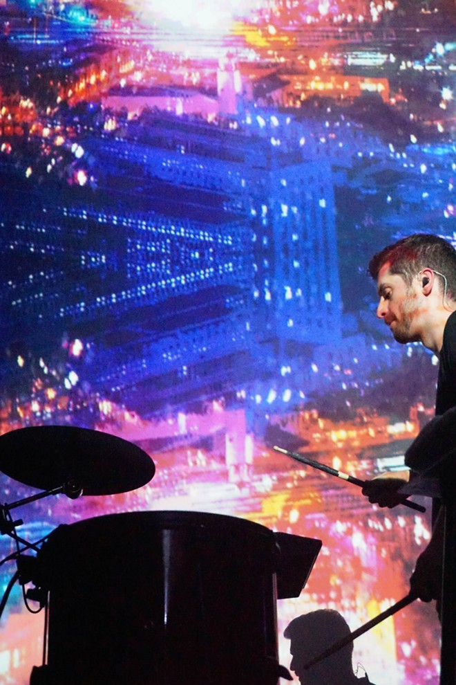 ODESZA combines percussion with electronic sound. Pictured: Harrison Mills - COURTNEY BREWER