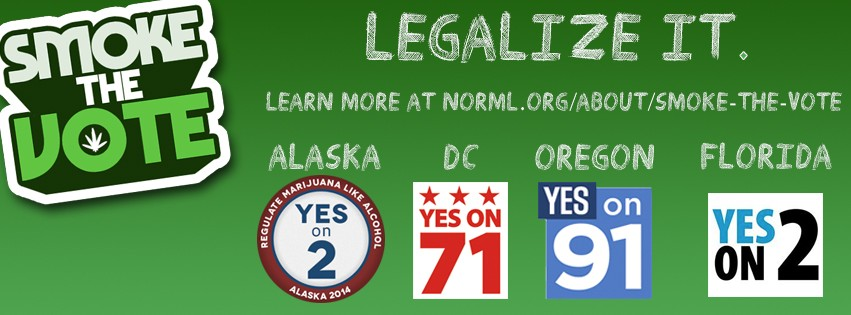NORML urged voters in these states to legalize medical and recreational marijuana.